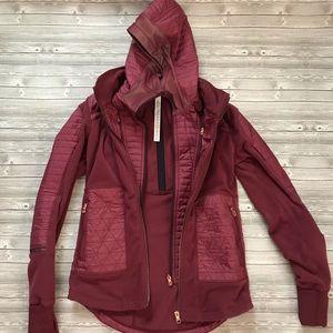 Lululemon Wineberry Fleecy Keen Jacket